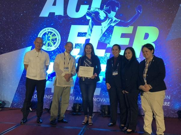 Dr. Rozalyn Reyes-Mauro winning third place in the Interesting Case Poster presentation held by Philippine College of Emergency Medicine last April 17, 2018. Photo credits © Dr. Rozalyn Reyes-Mauro
