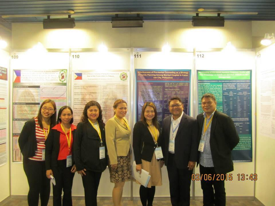 Dr. Apple Fabian (first from left) and delegates from Iloilo during the Wonca Asia Pacific Regional Conference in Taipei, Taiwan.